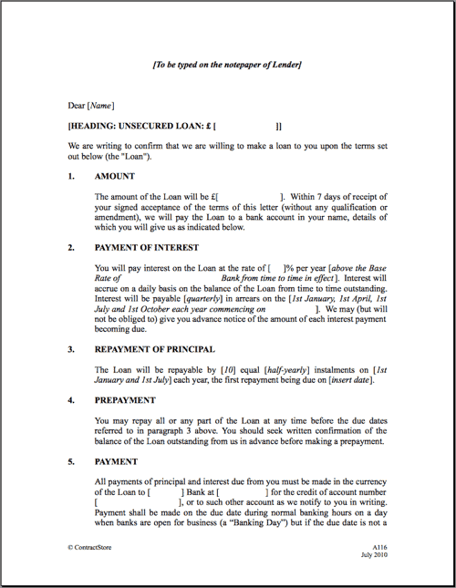 loan agreement template 3