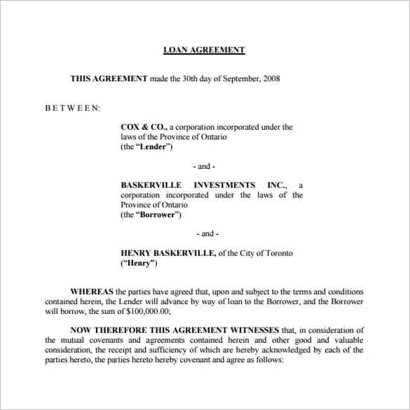 Good Personal Loan Agreement Template