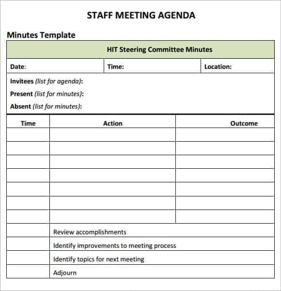 Team Meeting Agenda Template Free  PetitComingoutpolyCo