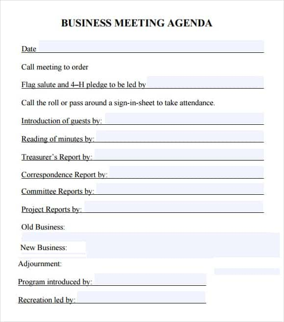 meeting agenda template 15