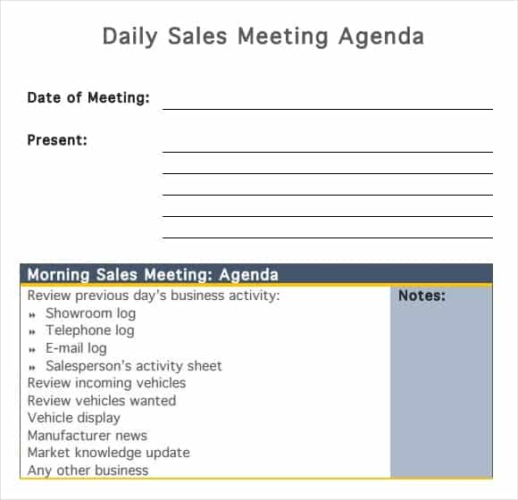 Good Meeting Agenda Template 4