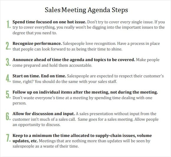 Meeting Agenda Templates  Word Excel  Formats