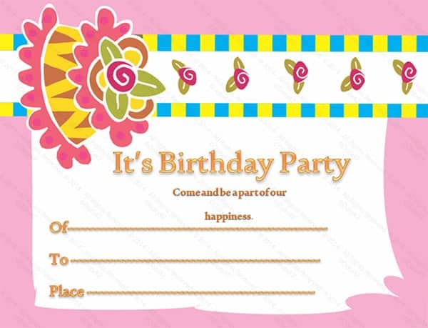 party invitation template 9