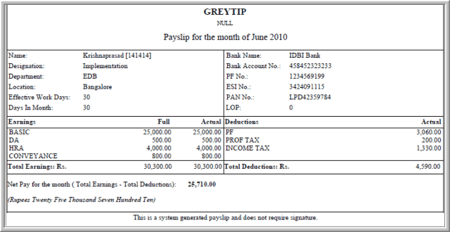 Payslip Template 9  Basic Payslip Template Excel Download