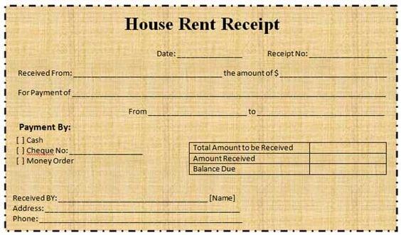 Rent Receipt 9  House Rent Receipts