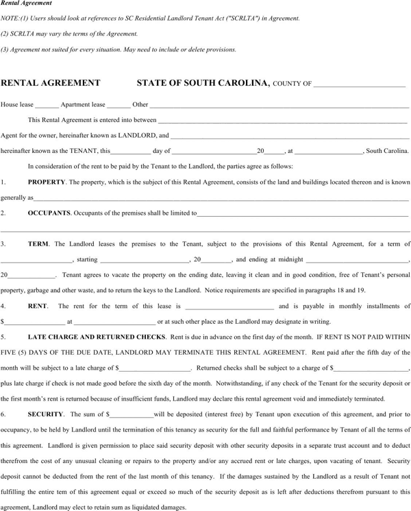 Rental Agreement Template 14  House Rental Agreement Template