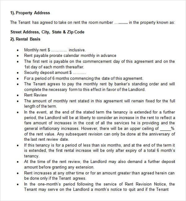 rental agreement template 15