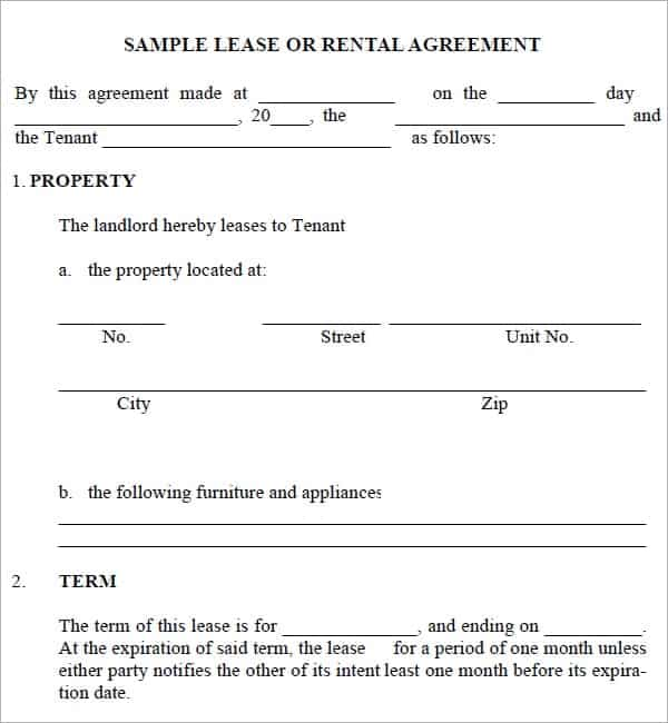 20 Rental Agreement Templates Word Excel PDF Formats – Basic Lease Agreement