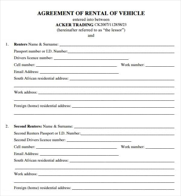 rental agreement template 3