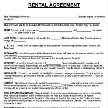 Car Rental Agreement Template Archives - Word Templates