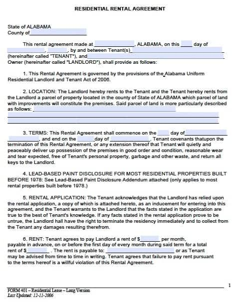House Rental Contract Rental Contract Template Printable House