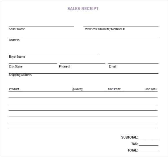 8 Sales Receipt Templates Word Excel Pdf Formats