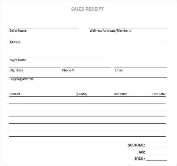 8 sales receipt templates word excel pdf formats