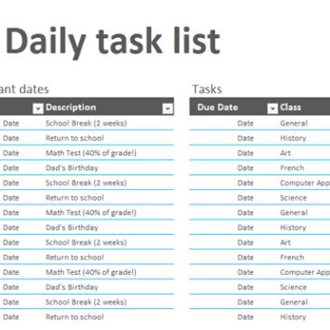 Team Task List Template Archives - Word Templates