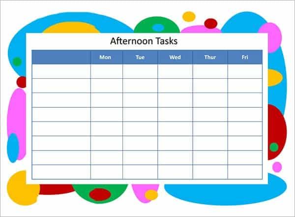 task list template 11