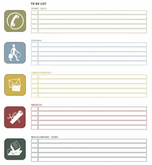 To Do List Templates  Word Excel  Formats