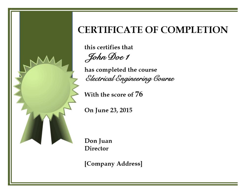Blank certificates of completion jcmanagement blank certificates of completion yelopaper Gallery