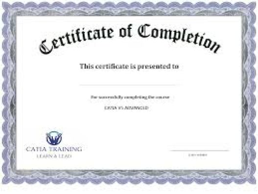 certificate of completion template 841