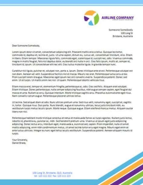 company letterhead template 8541