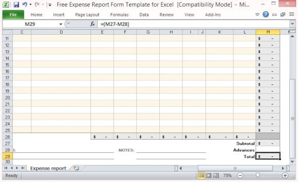 Trip Report Template Expense Report Template Expense Report