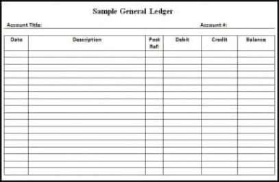 9 General Ledger Templates Word Excel PDF Formats – Ledger Format