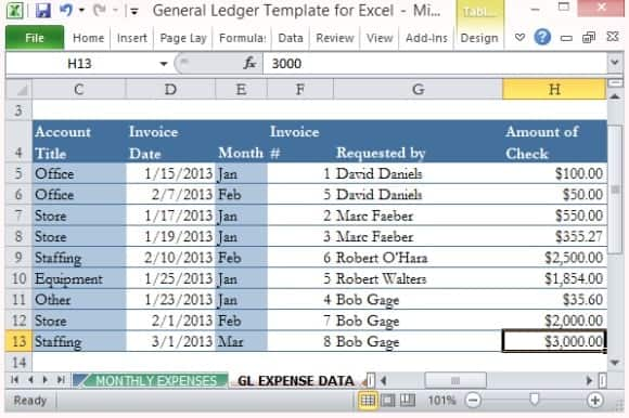 9 general ledger templates word excel pdf formats general ledger template 5412 flashek Images