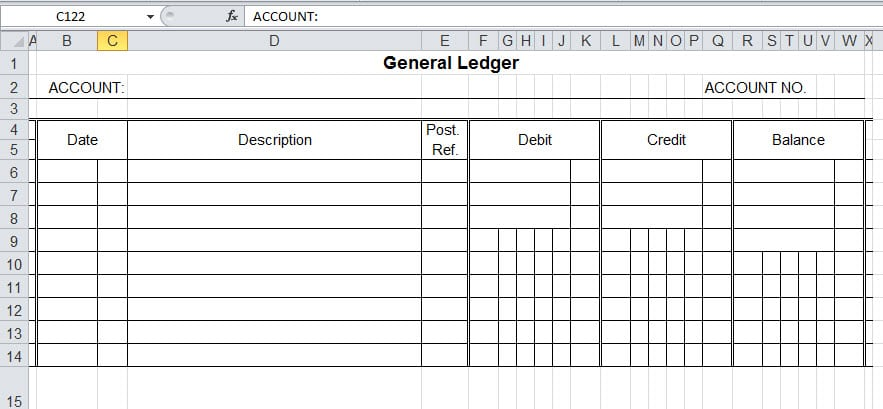 Excel General Ledger Template Archives  Word Templates