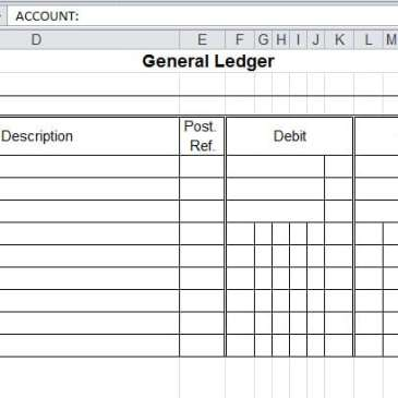 Business General Ledger Template Archives - Word Templates