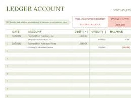 9 General Ledger Templates Word Excel PDF Formats – Account Ledger Template