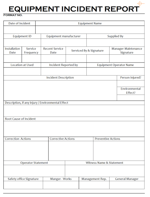 incident report template 984