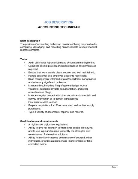 Lovely 9+ Job Description Templates Regard To Job Description Word Template