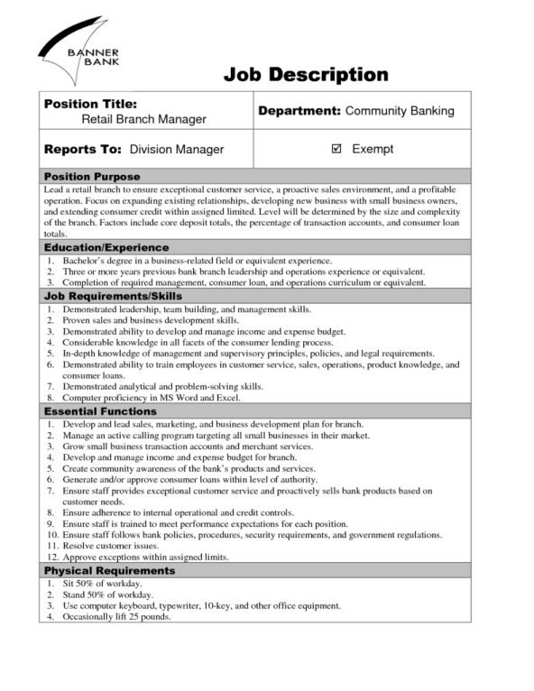9 job description templates word excel pdf formats for Training officer job description template