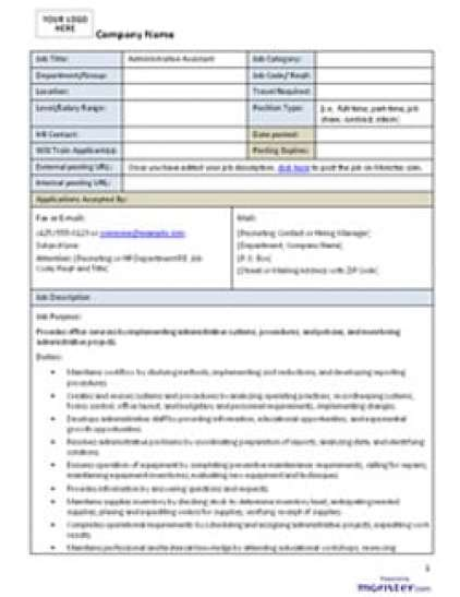 job description template 87451