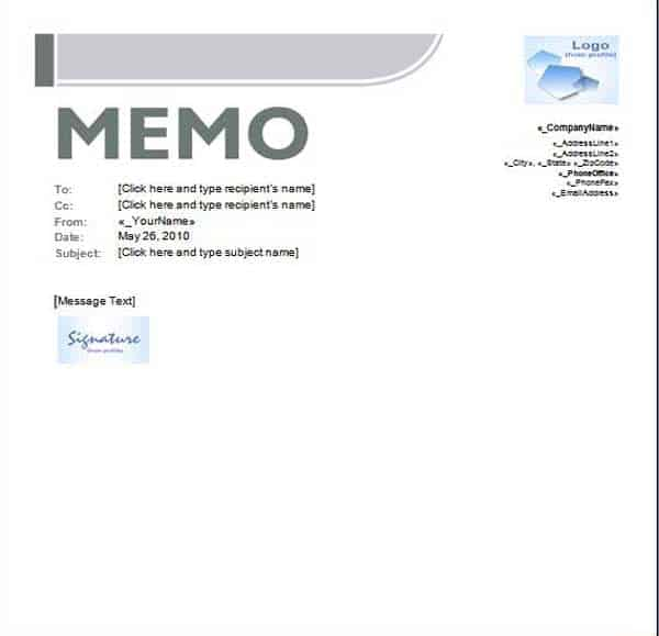 Standard Memo Template Archives - Word Templates