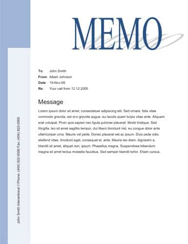 9 memo templates word excel pdf formats for Microsoft office memo templates free