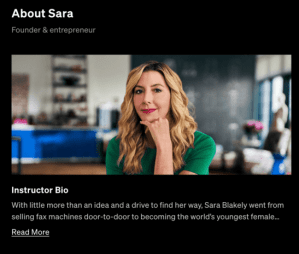 Read more about the article MasterClass – Sara Blakely Teaches Self-Made Entrepreneurship