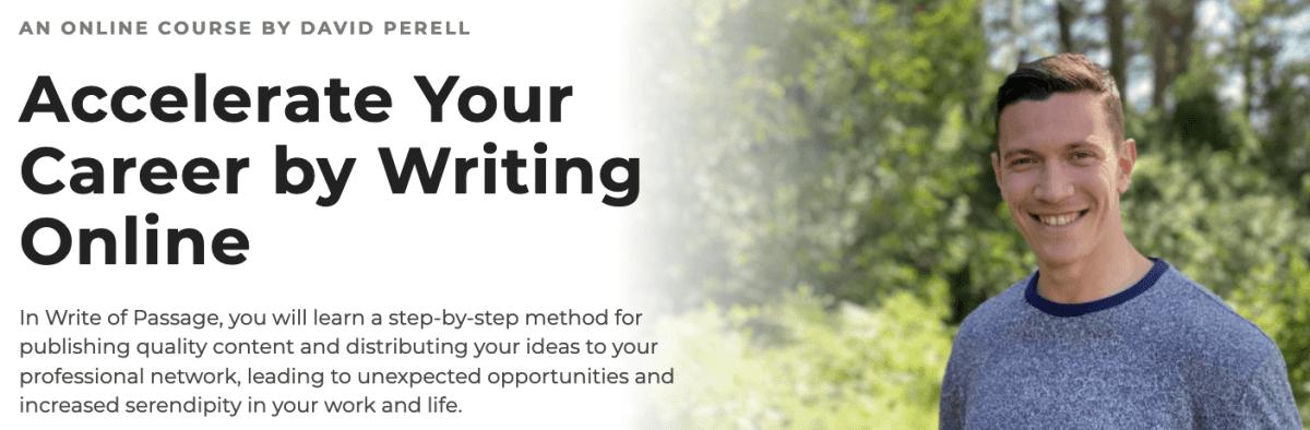 David Perell – Write of Passage