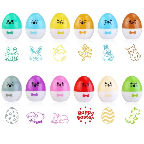 Add a twist to your Easter Egg hunt this year with these Stamp eggs. You could create a fun hunt scavenger hunt for them with the animal stamps. Each animal would have to be marked off to get their secret message that will reveal their big prize at the end of the hunt.