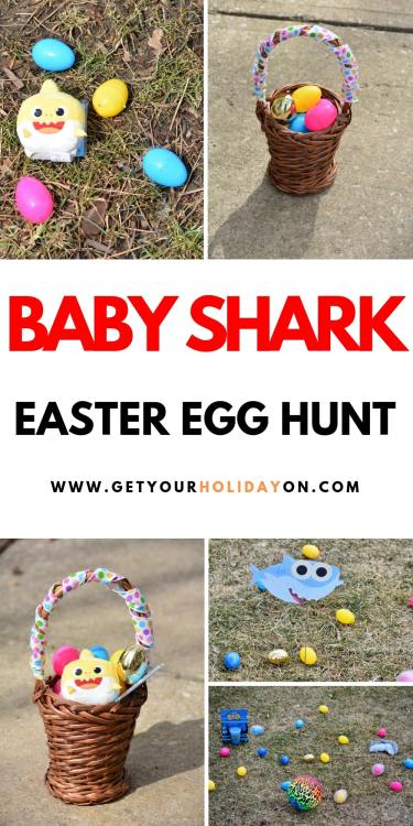 158 Things To Use For The Most Memorable Easter Egg Hunt! Plus, find a toddler's version of a Baby Shark Easter egg hunt #babyshark #shark #easter #eastereggs