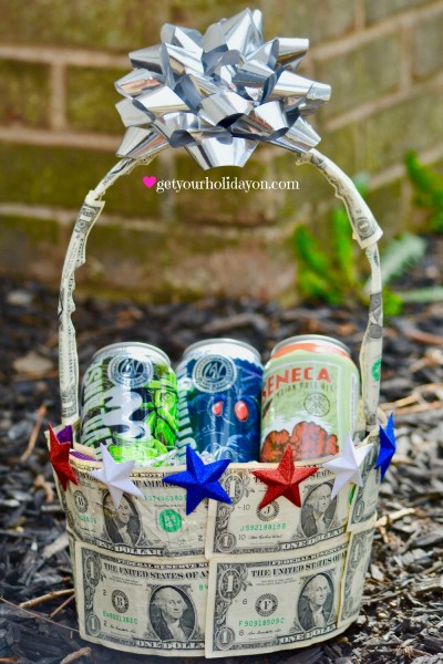 Happy 4th of July American style! Who wouldn't love a Patriotic Gift Basket that includes money and American beer? Well just about anyone that served our great country, loves our great country, and just wants an ice cold beer with a little extra cash in their pocket.