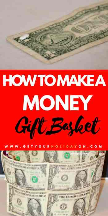 What makes an inventive way to create a money gift basket? Check out how to create a money gift basket. ! #giftbasket #holiday #gift #birthday