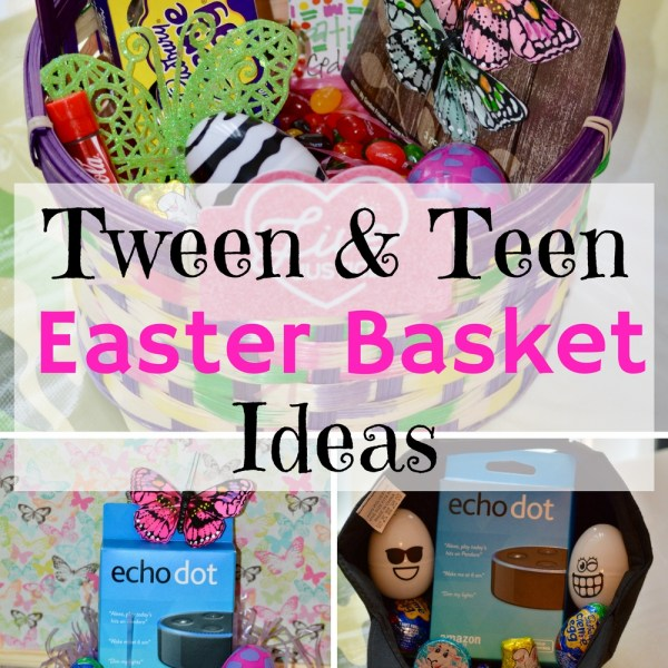Pre-teen, tween, teen Easter Basket Ideas that are creative, fun, and would be sure to surprise.