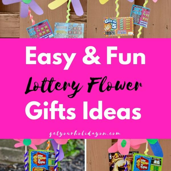 DIY Lottery Ticket Flower Arrangement Gi...