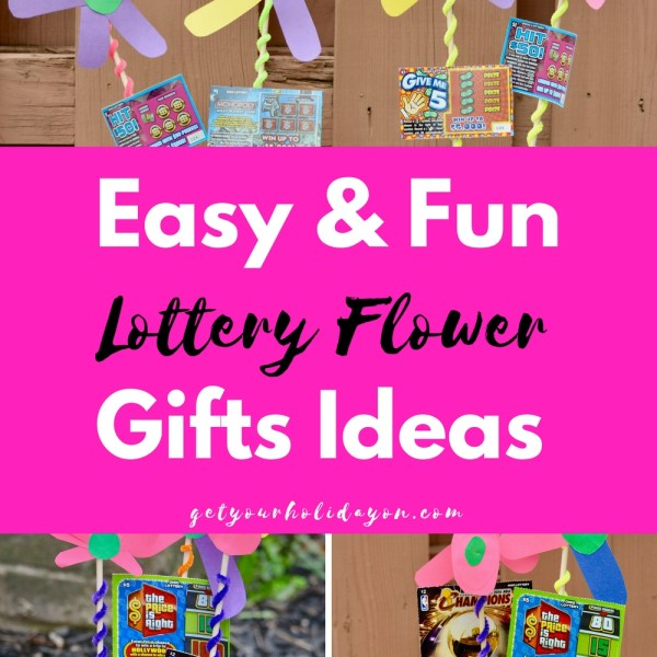 DIY Lottery Ticket Flower Arrangement Gi...