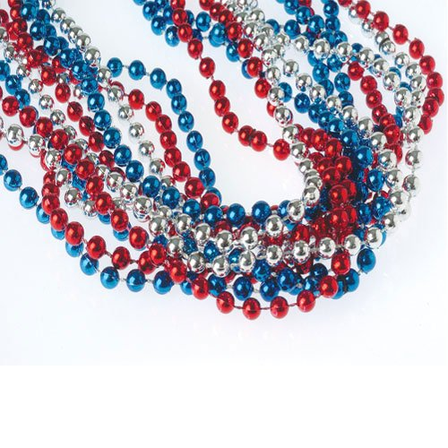 red white and blue necklaces