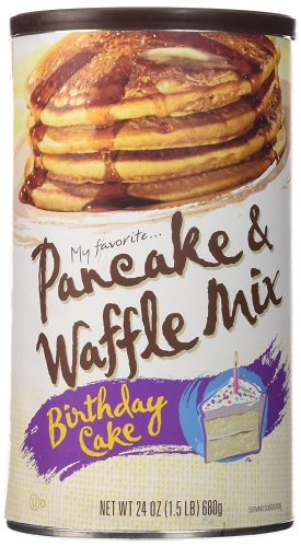 Another idea→Have you ever heard ofMy Favorite Birthday Cake Pancake & Waffle Mix? This is made with pancake mix and confetti sprinkles. It works really well in waffle makers too. People rave about it and it's perfect for that morning breakfast or a replacement if they're not a huge fan of cake. ;-)