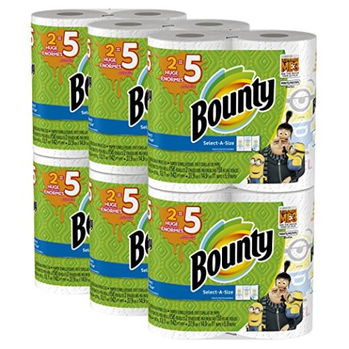 Bounty Despicable Me 3 Select-A-Size Paper Towels with Minion Prints, Huge Roll, 12 Count