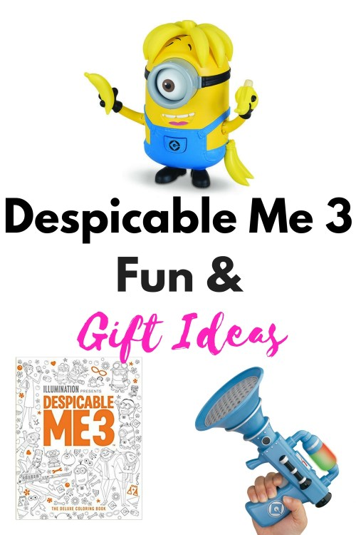We are big time fans of the movies Minions, Despicable Me, Despicable Me 2 and we cant wait to get our our Despicable Me 3 fun on! Check out these awesome gift ideas that are awesome for any kid or adult fan!