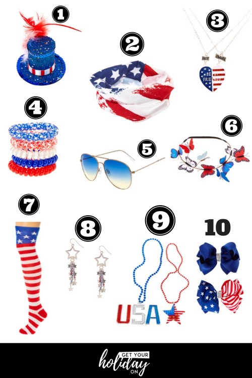 Patriotic Themed | Red, White, and Blue| Accessories| Fashion| Holiday| Fun