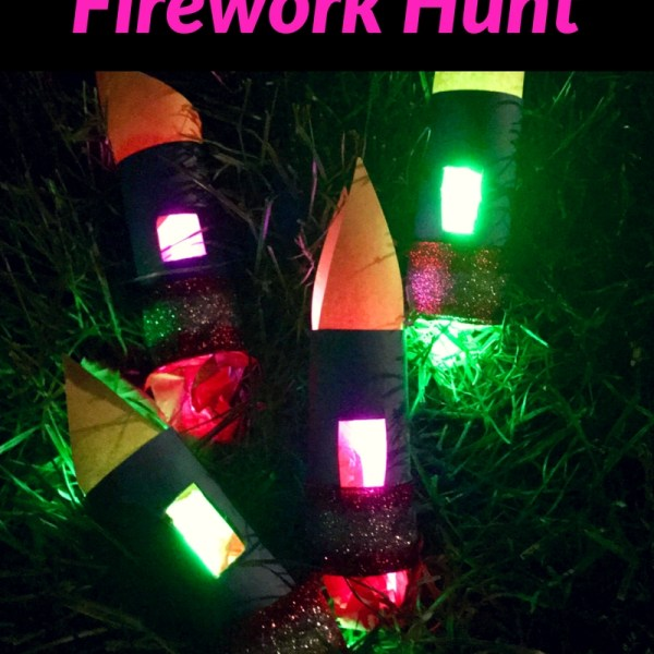What a fun way to do something unique for the 4th of July. A Glow in the Dark Firework Hunt. DIY Glow-in-the-dark Fireworks filled with candy, toys, and other surprises. This will keep the kids entertained for a while at your 4th of July party.